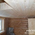 Утепление и отделка потолка в деревянной бане
