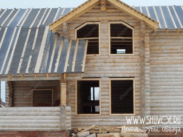 Окосячка нестандартных окон в деревянном доме
