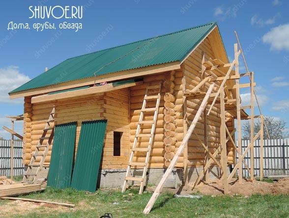 Строительство дома 7х8 на основе сруба в городе Яхрома.