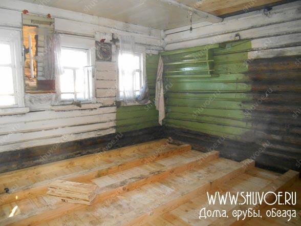 Замена пола в старом деревянном доме