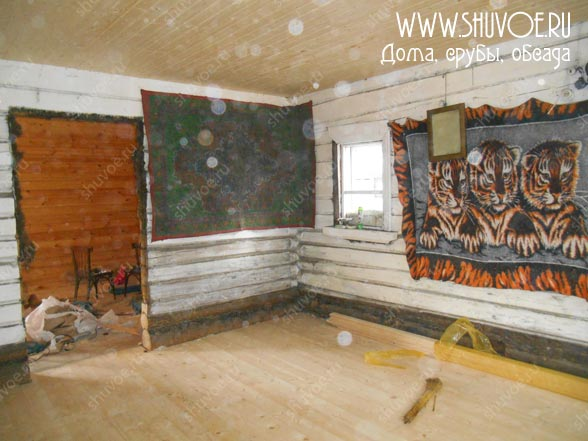 Новый пол в старом деревянном доме