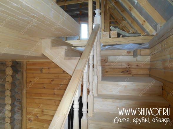 Строительство деревянной лестницы на второй этаж