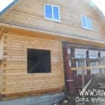 Брусовая пристройка к старому деревянному дому