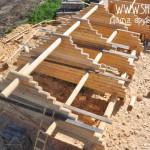 Рубленые фронтоны для деревянного дома 7х8