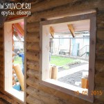 Обсада в деревянном доме - бане от компании Шувое.