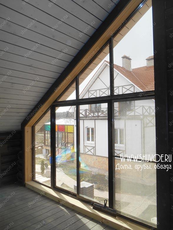 Окосячка для панорамных окон деревянного дома.