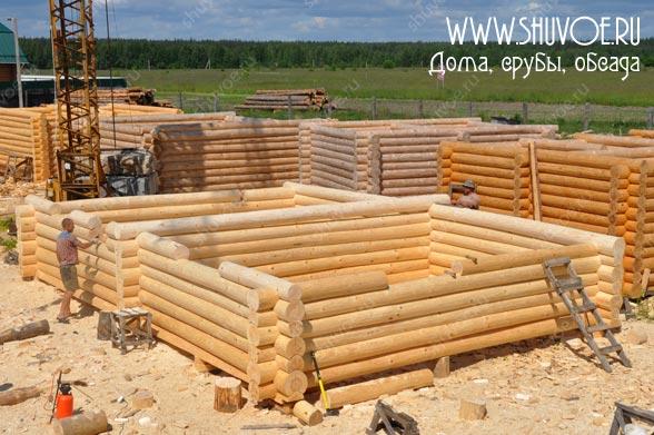 Строительство сруба 7х10, под дачный дом - оконные венцы.