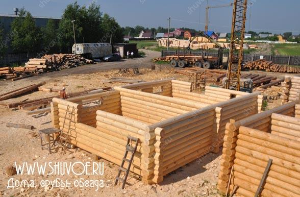 Строительство сруба 7х10, под дачный дом.