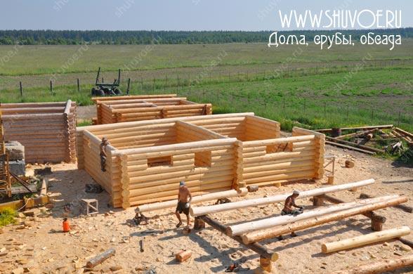 Строительство сруба 7х10, под дачный дом - средние венцы.