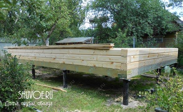Строим дачный домик из бруса - 4 на 6 метров.