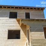 Обсада окон и дверей в дачном деревянном доме. Отчет с фото №1519.