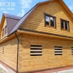 Строительство брусового дома 9х12 в деревне Колычево Московской области.