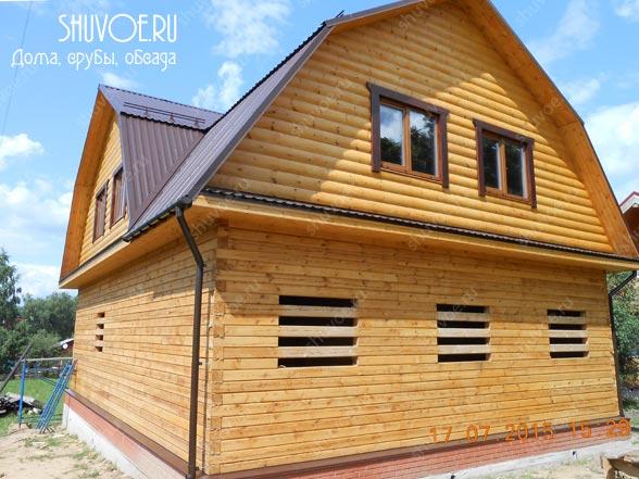 Брусовой дом 9х12 в д. Колычёво. Строительство брусового дома 9х12 в деревне Колычево Московской области