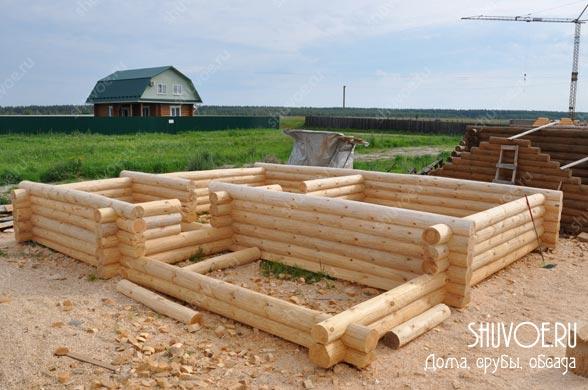 Летний домик из сруба 7х8 - рубочная площадка.