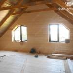 Отделка второго этажа в деревянном доме.