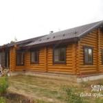 Внутренняя отделка деревянного дома в Цибино.