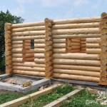 Строительство рубленого дома в деревне Конобеево, компания Шувое.