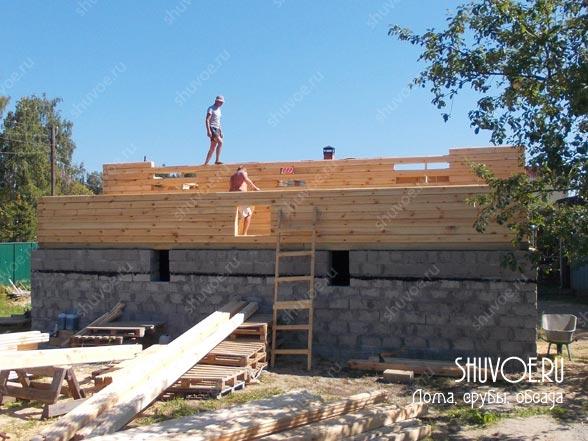 Начало строительства дома 10х12