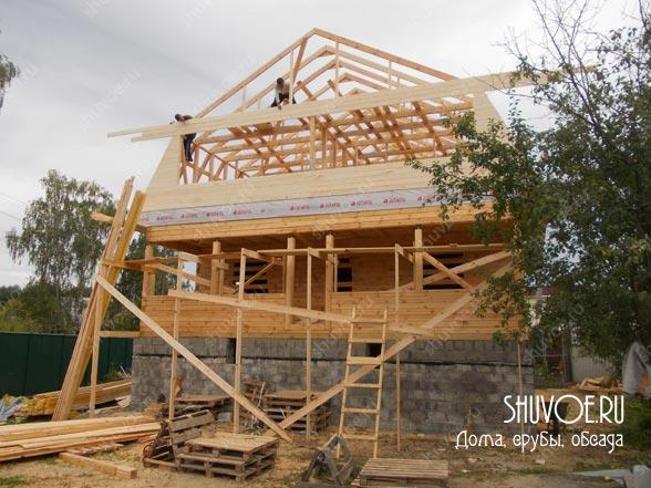 Строительство брусового дома в Клязьме