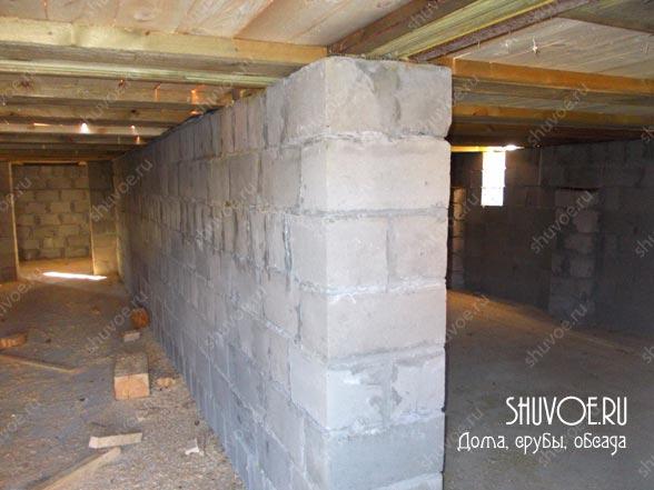 Высокий фундамент в брусовой доме - во время паводка местность бывает подтапливает.