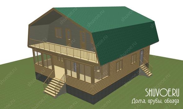 3д модель брусового дома 10х12, создается перед строительством.