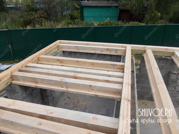 Начало строительства брусового дома.