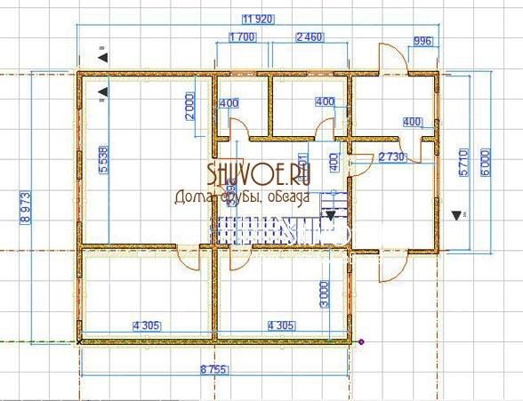План 1 этажа брусового дома обязательно создается перед строительством.