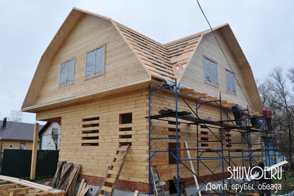 Строительство брусового дома 9х9 в деревне Шувое Московской области