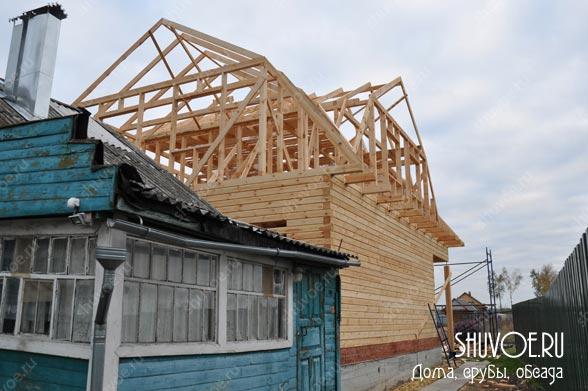 Надежная крыша к брусовому дому 9 на9 м.