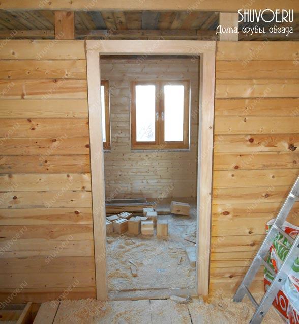 Обсада в деревянном доме - для двери.