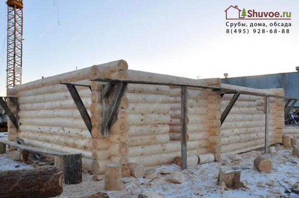 Строительство сруба 7х9 под жилой дом.