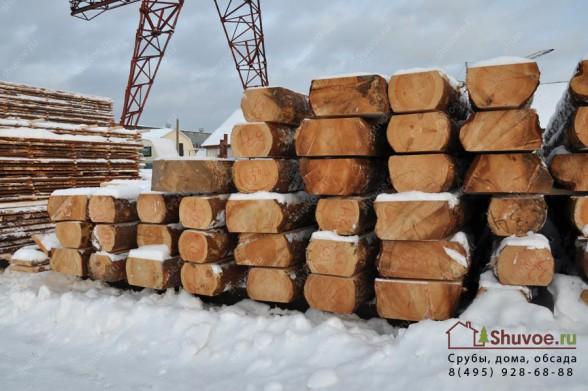Лафет 250 мм для будущего деревянного дома.