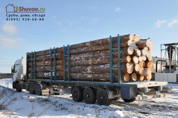 Доставка леса на рубочные площадки компании Шувое.