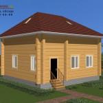 Проект дома 8х9 из лафета, построенного компанией Шувое