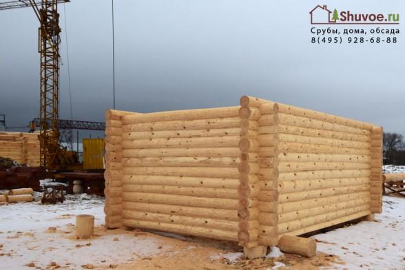 Готовый сруб 4х6 под баню на рубочной площадке в Шувое.