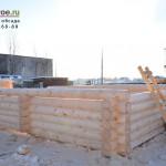 Сруб 6х6 под баню на рубочной площадке в Шувое.