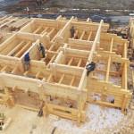 Строительство дома из лафета в компании Шувое.