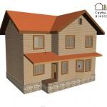 Проект брусового дома 9 на 12 метров от компании Шувое.